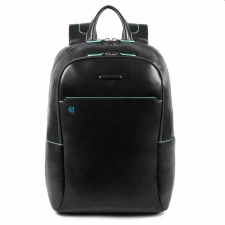 "PIQUADRO Blue Square zaino grande porta pc 15,6"", in pelle nero"