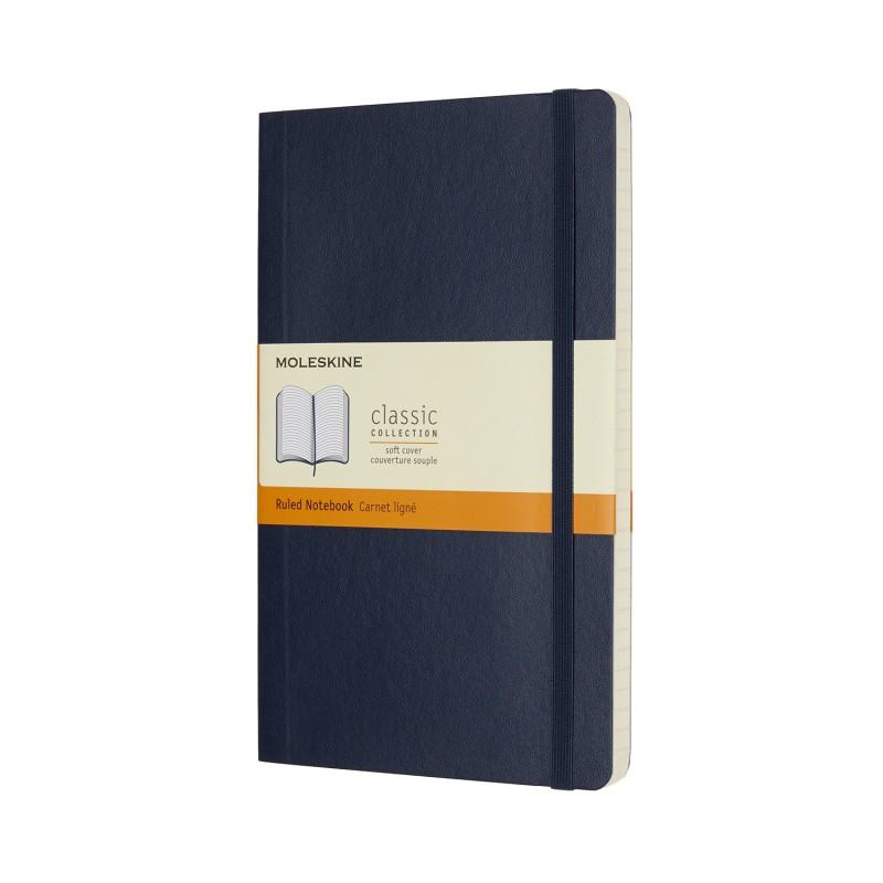 MOLESKINE taccuino Classic, large, copertina rigida blu, pagina