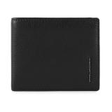 PIQUADRO Modus portafogli uomo 6 cc, RFID, pelle nero