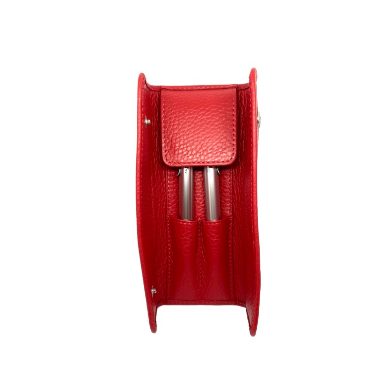 AG SPALDING & BROS Century porta penne in pelle rosso, 1 penna