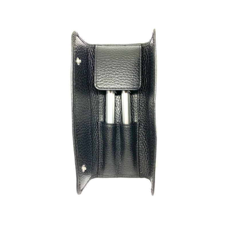 AG SPALDING & BROS Century porta penne in pelle nero, 1 penna a