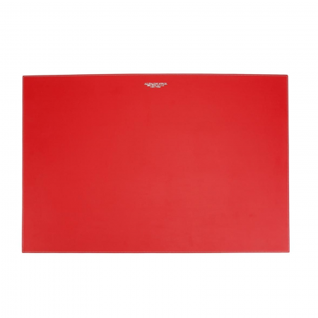 AG SPALDING & BROS desk pad sottomano, 60x40 cm, pelle rosso