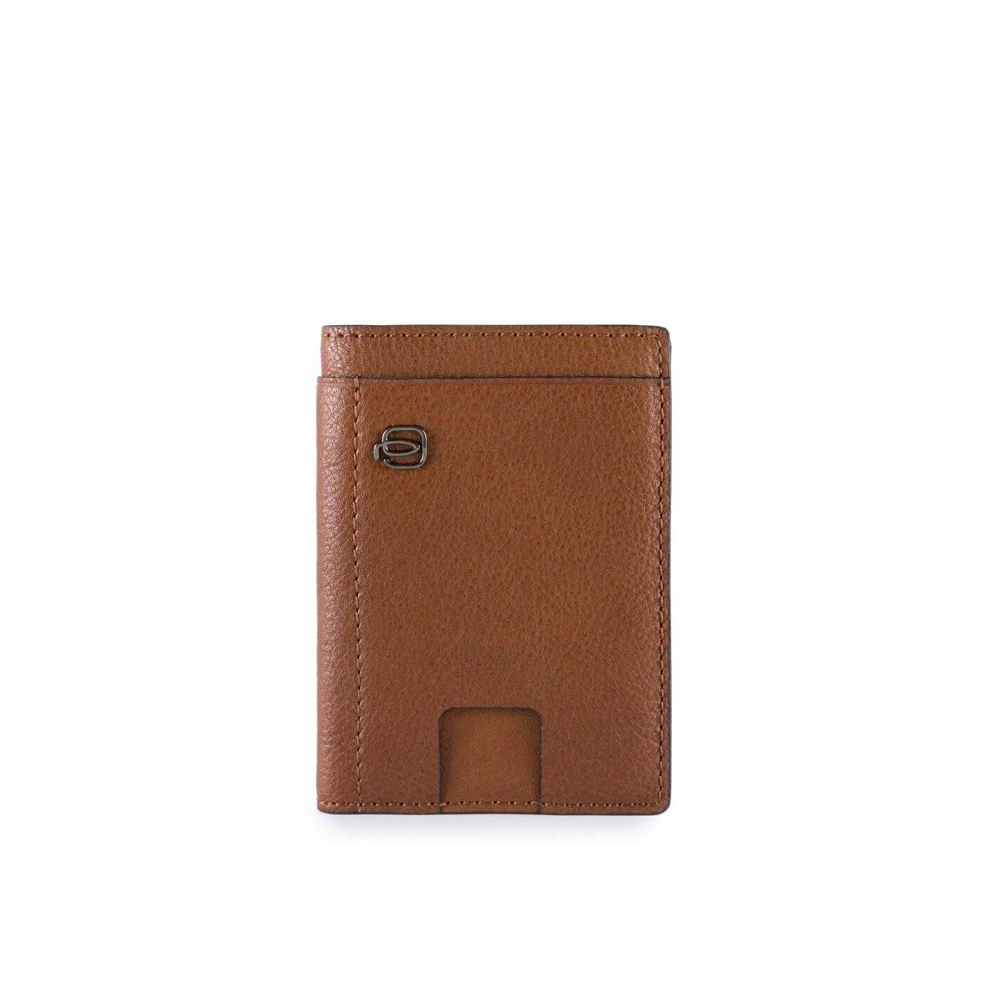 PIQUADRO Black Square portafogli uomo compatto, 6 cc RFID