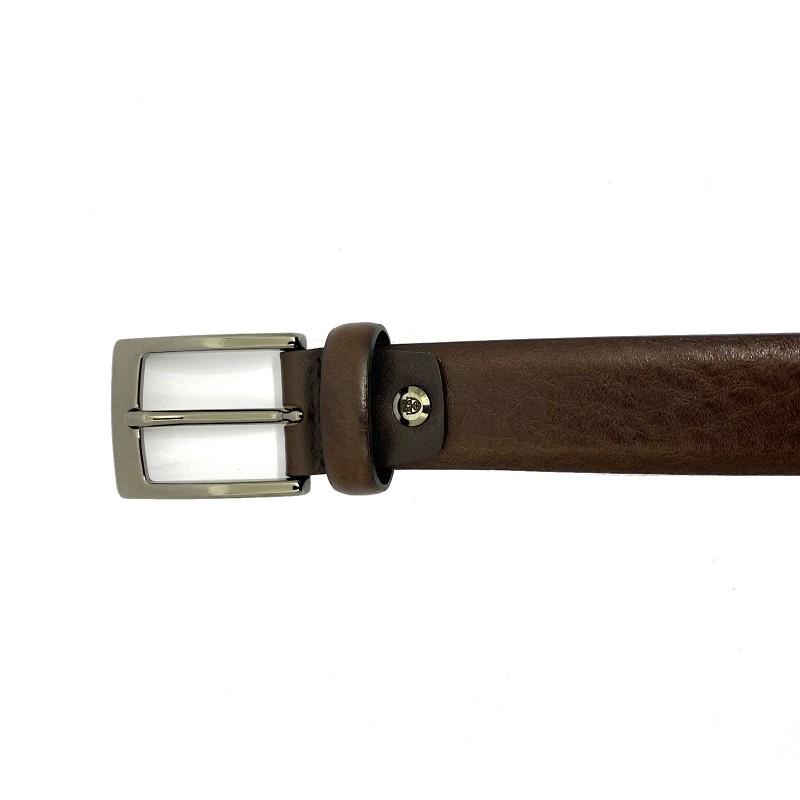 AG SPALDING & BROS Belt cintura uomo, pelle testa di moro