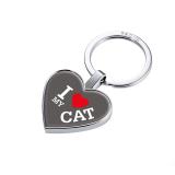 TROIKA portachiavi cuore gettone, I love cat