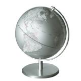 Emform Mappamondo globe Silver planet argento alluminio ⌀24 cm