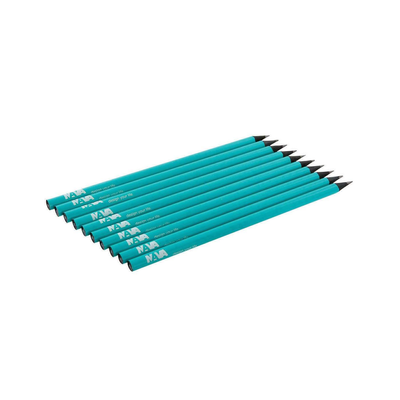 NAVA DESIGN matita in legno a taglio vivo, turchese