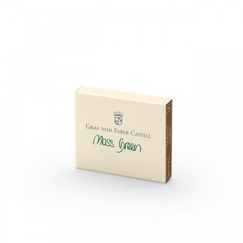 GRAF VON FABER CASTELL cartucce inchiostro verde moos green