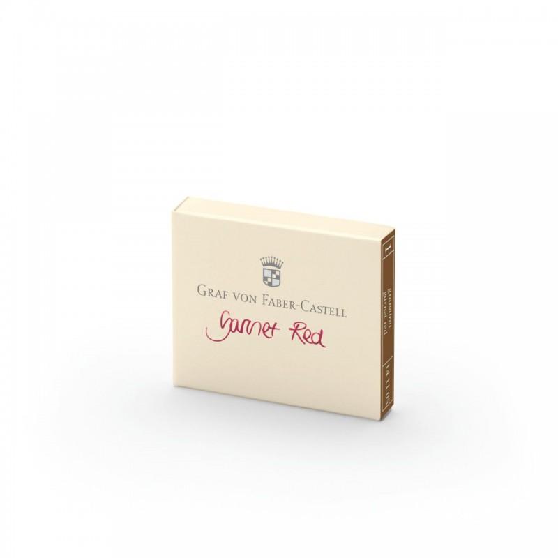 GRAF VON FABER CASTELL cartucce inchiostro rosso garnet red