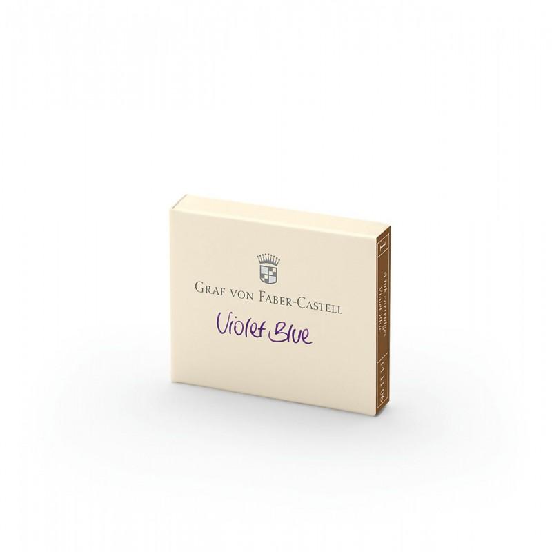 GRAF VON FABER CASTELL cartucce inchiostro viola violet blue