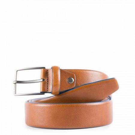 PIQUADRO Blue Square cintura uomo, pelle cuoio, rutenio