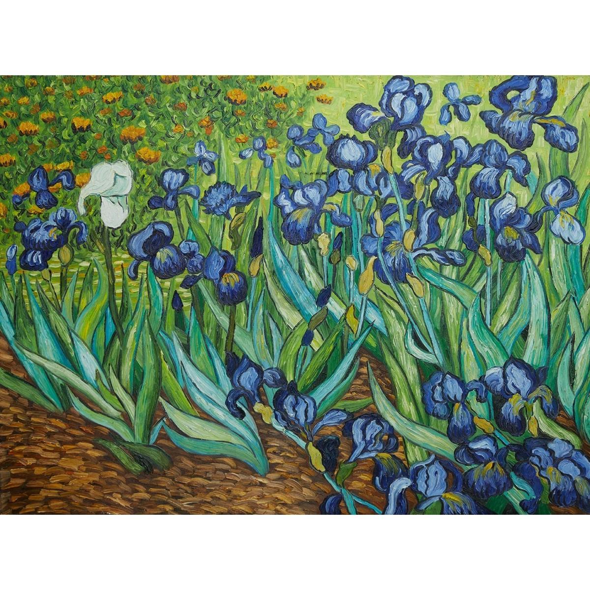 VISCONTI Van Gogh Irises Iris penna a sfera, resina verde