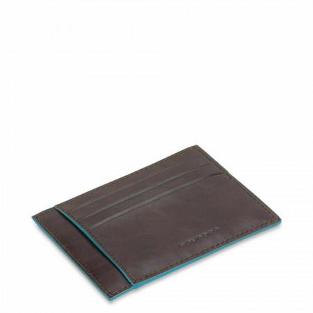 PIQUADRO Blue Square bustina porta documenti RFID, pelle mogano