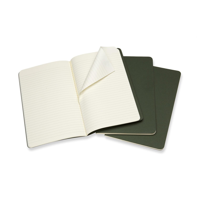 miniatura 2 - MOLESKINE quaderno Cahier Journal (Set 3), large a righe, copertina morbida verd