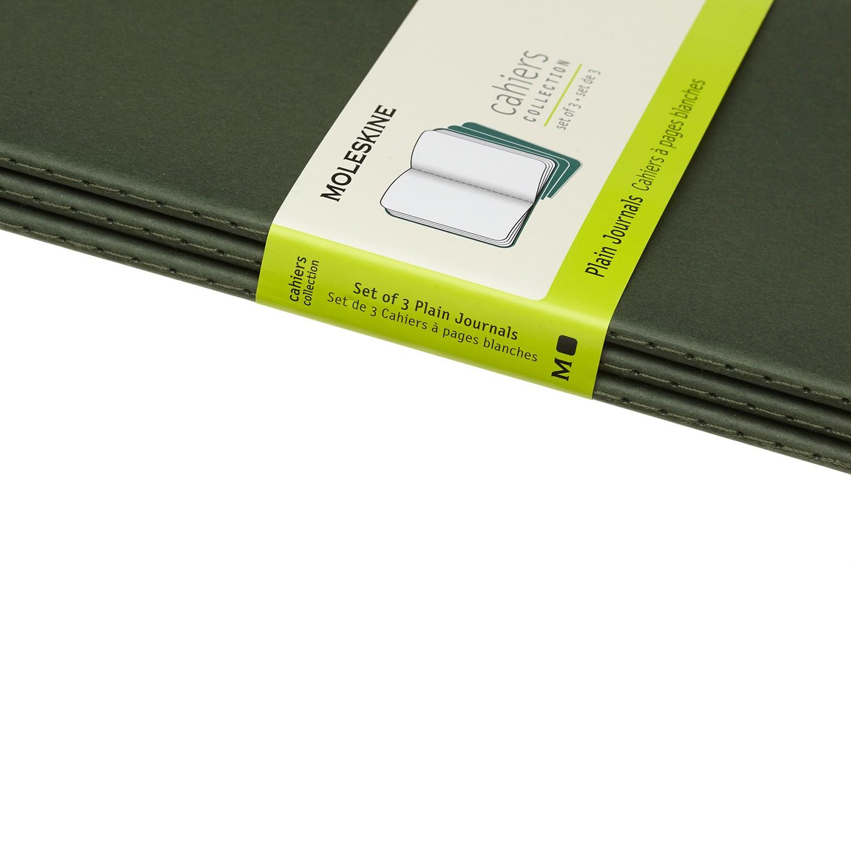 miniatura 5 - MOLESKINE quaderno Cahier Journal (Set 3), large a righe, copertina morbida verd