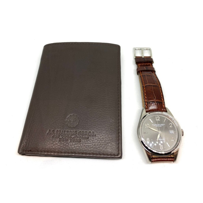 AG SPALDING & BROS kit orologio Prince automatic marrone +