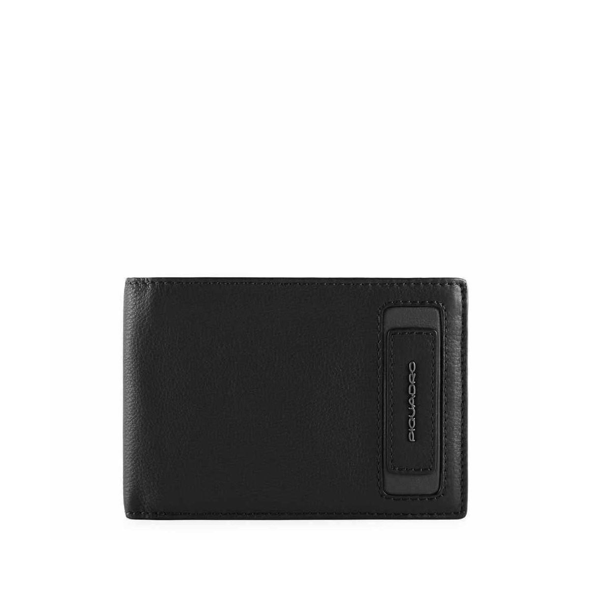 PIQUADRO Dioniso portafogli uomo 6 cc, RFID, pelle nero