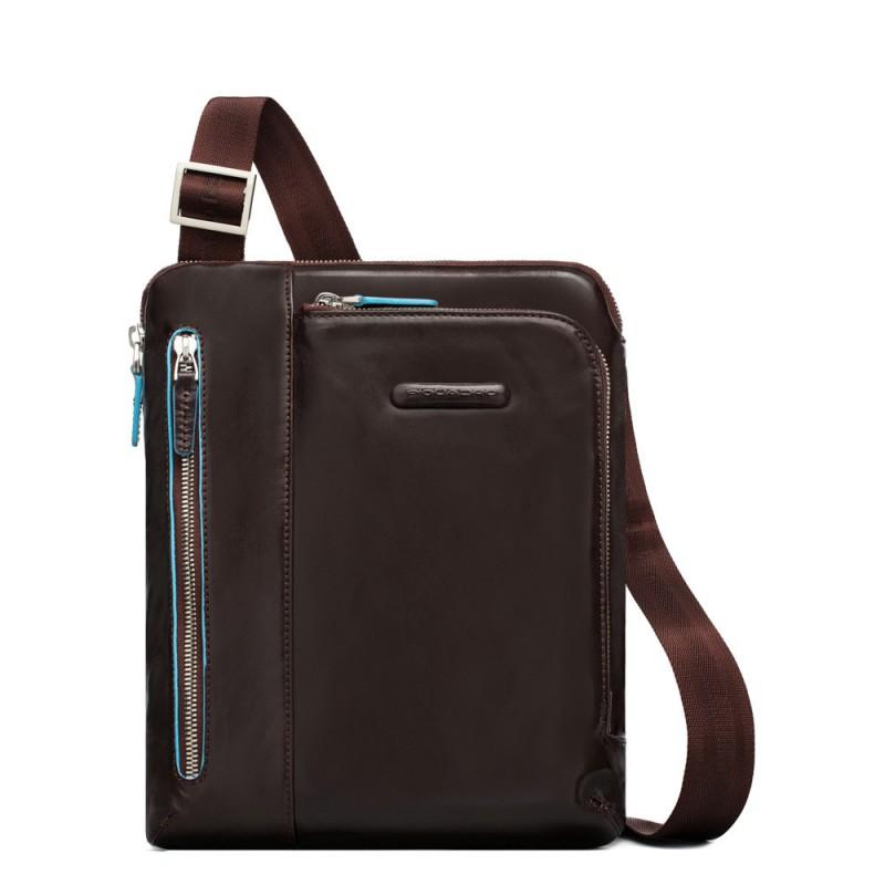 PIQUADRO Blue Square borsello grande, 1 vano + 3 tasche, pelle