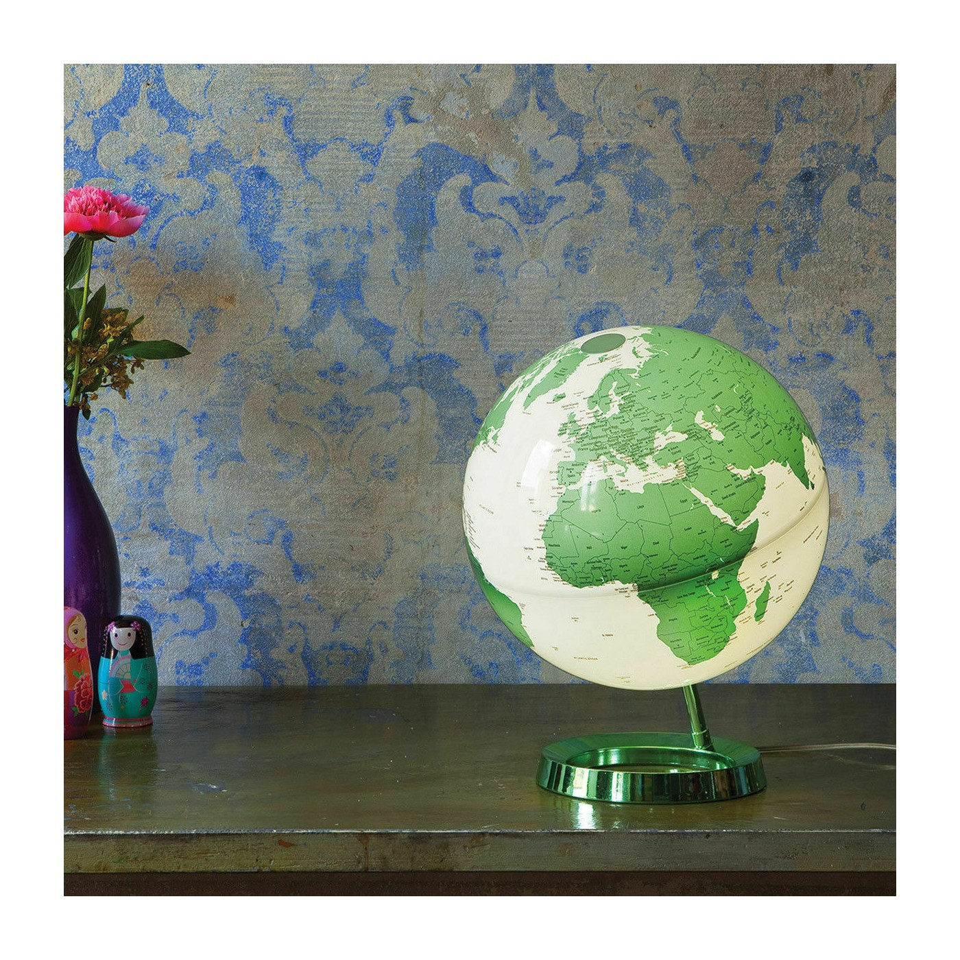 Atmosphere Light & Colour Globe Mappamondo luminoso 30 cm verde