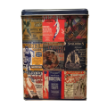 AG SPALDING & BROS scatola grande in latta porta oggetti, blu