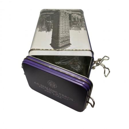 AG SPALDING & BROS Box scatola contenitore porta penne in latta
