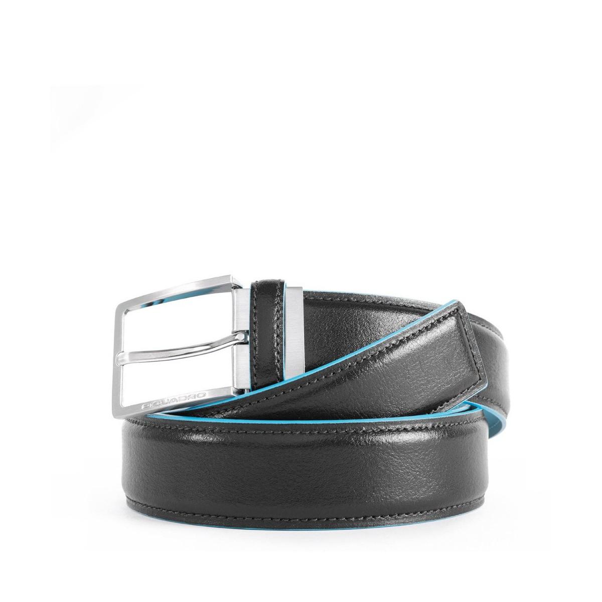 PIQUADRO Blue Square cintura uomo, pelle nero