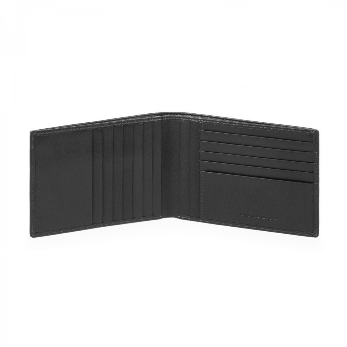 PIQUADRO Urban portafogli uomo 12 cc, RFID, pelle nero