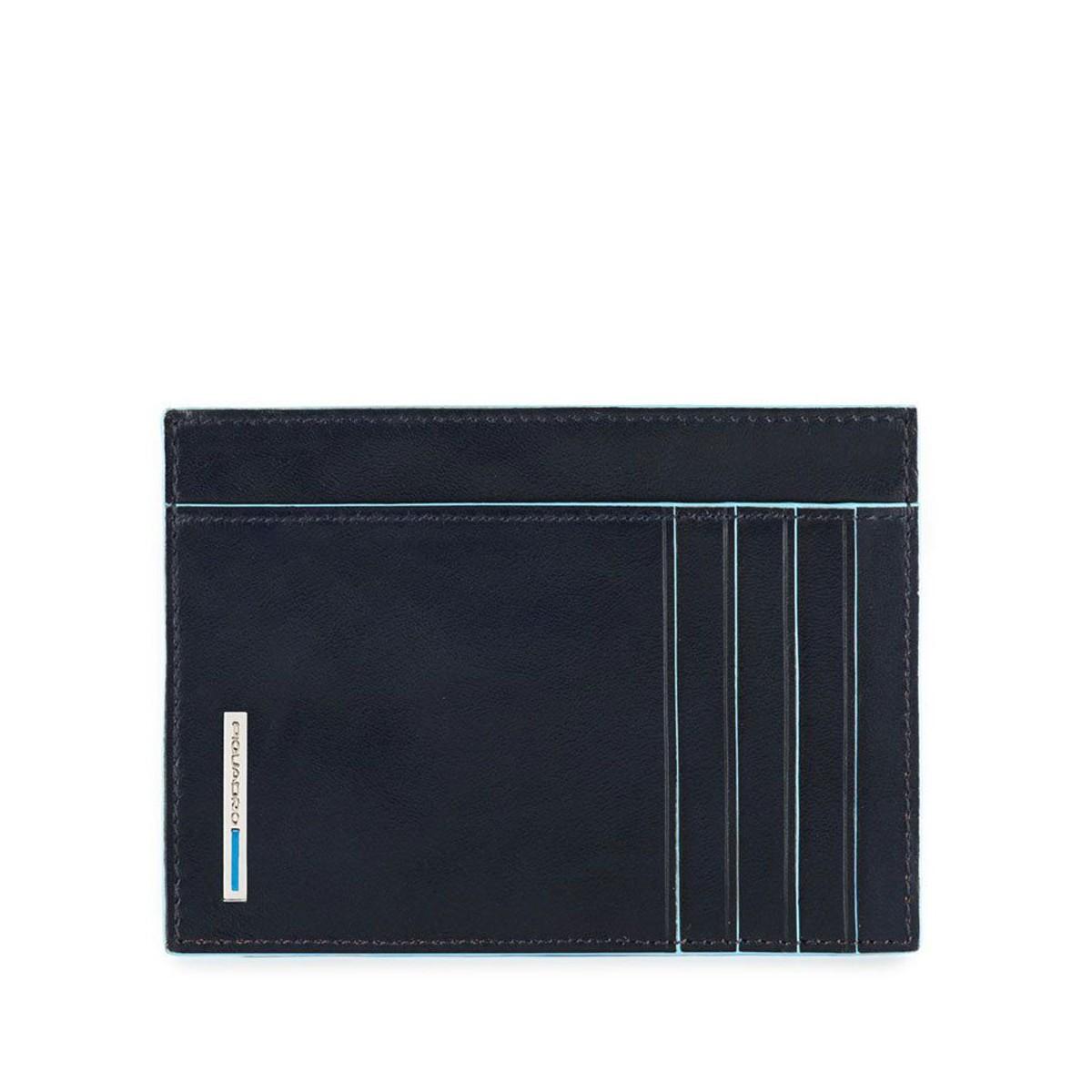 PIQUADRO Blue Square bustina grande porta documenti, pelle blu