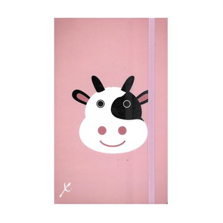 STIFFLEXIBLE taccuino righe, copertina flessibile, 9x14 cm, Cow