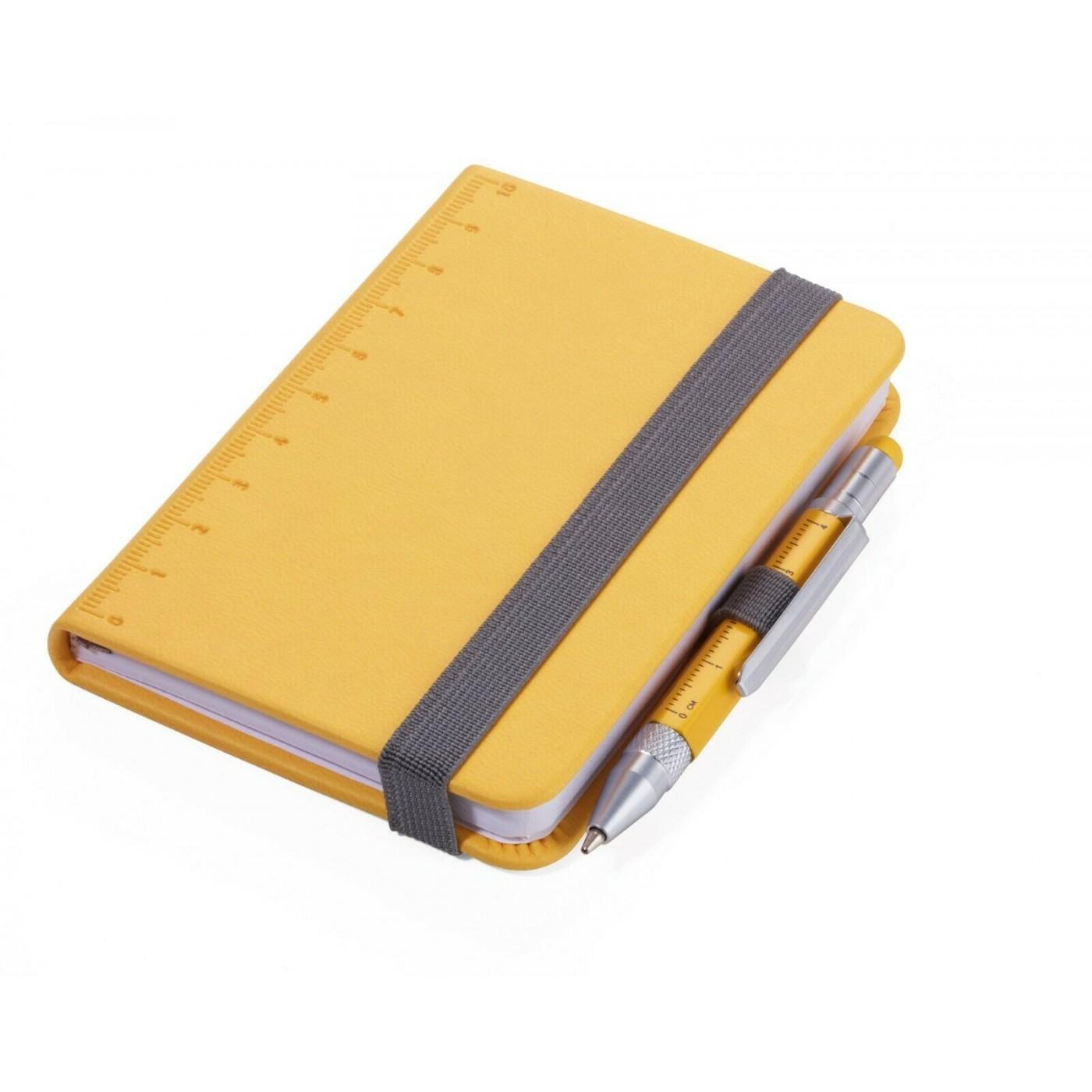 TROIKA Construction penna lilipad + liliput taccuino, giallo