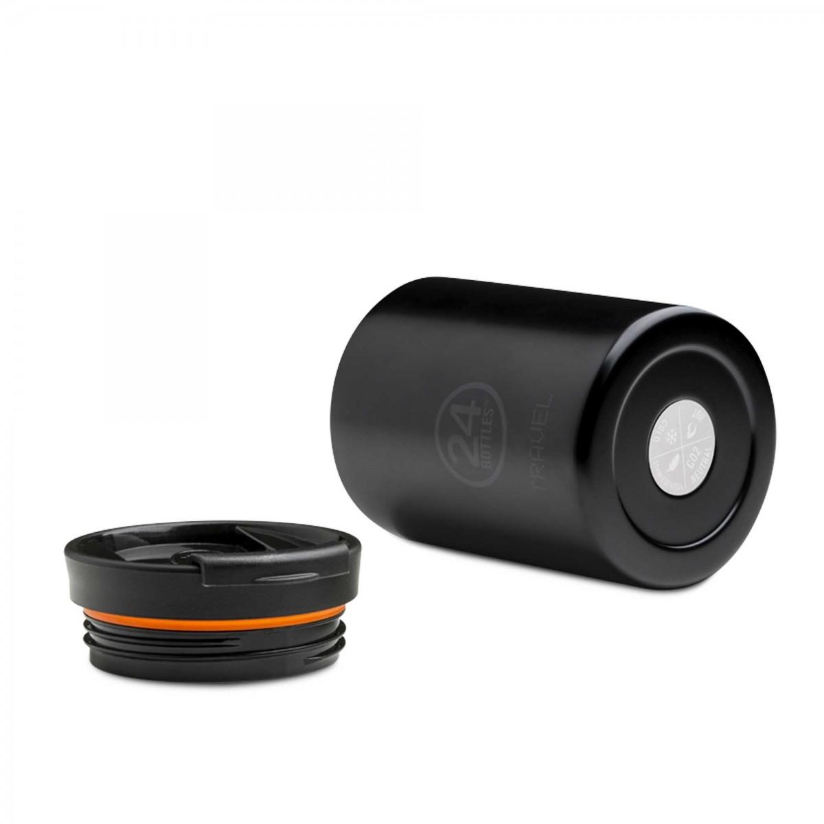 24 BOTTLES Travel Tumbler Tuxedo Black, bicchiere termico, 24h