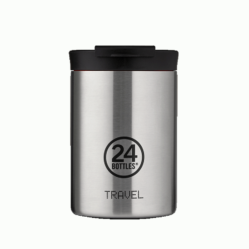 24 BOTTLES Travel Tumbler Steel, bicchiere termico, 24h, 350 ml