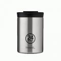 24 BOTTLES Travel Tumbler Steel, bicchiere termico, 24h, 350 ml