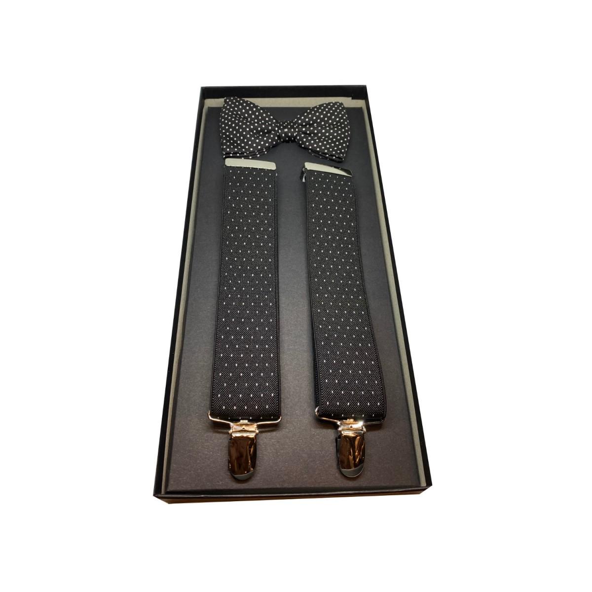 PELLENS & LOICK kit bretelle a 3 clip + papillon 100% seta