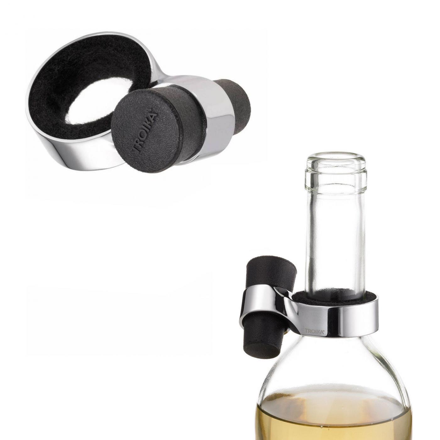 TROIKA salva goccia e porta tappo vino (tappo incluso)