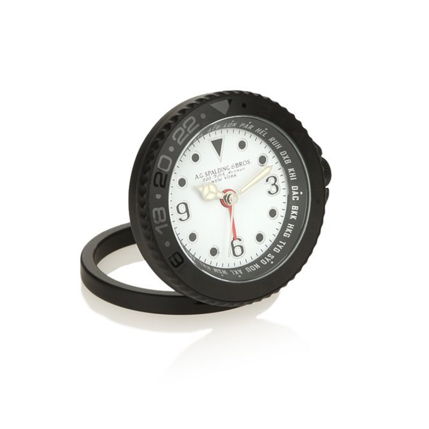 AG SPALDING & BROS GMT orologio sveglia da viaggio, bianco