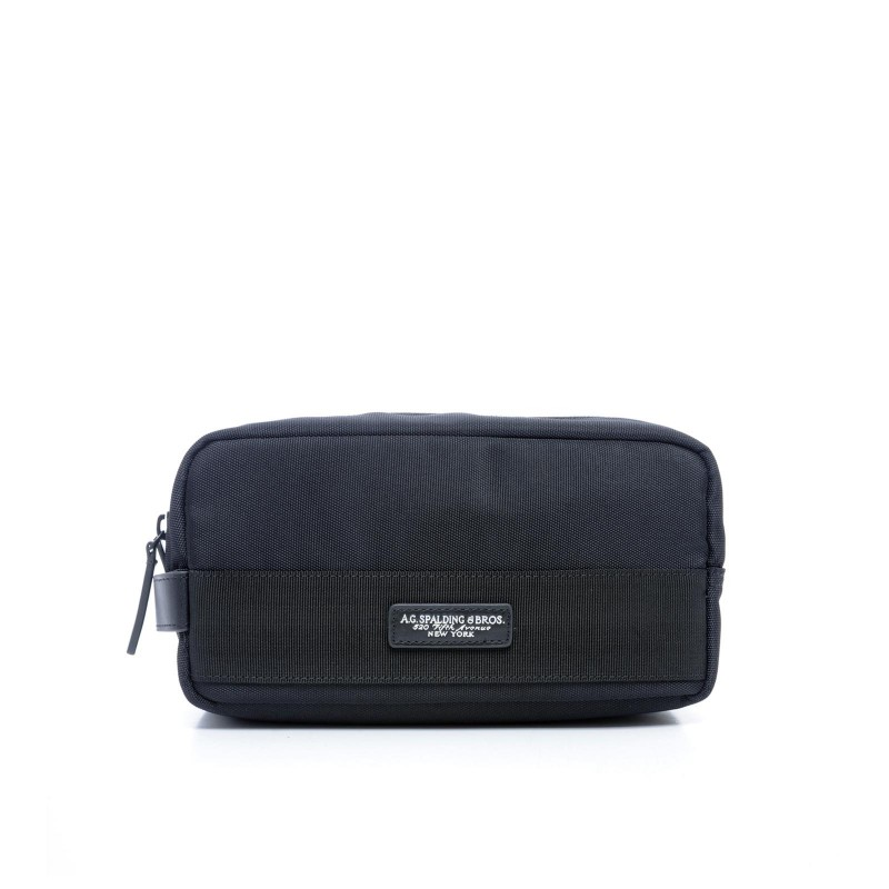 AG SPALDING & BROS New Soft Travel Beauty da viaggio, nylon nero