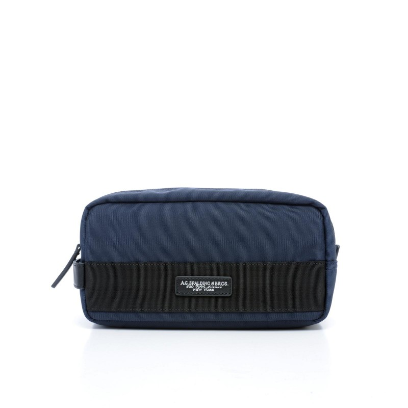 AG SPALDING & BROS New Soft Travel Beauty da viaggio, nylon blu