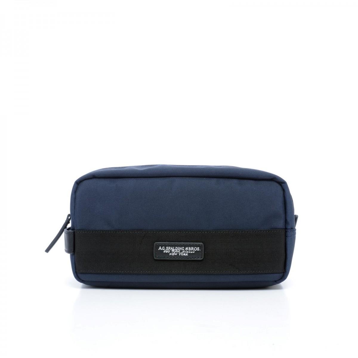 AG SPALDING & BROS New Soft Travel Beauty da viaggio, nylon blu