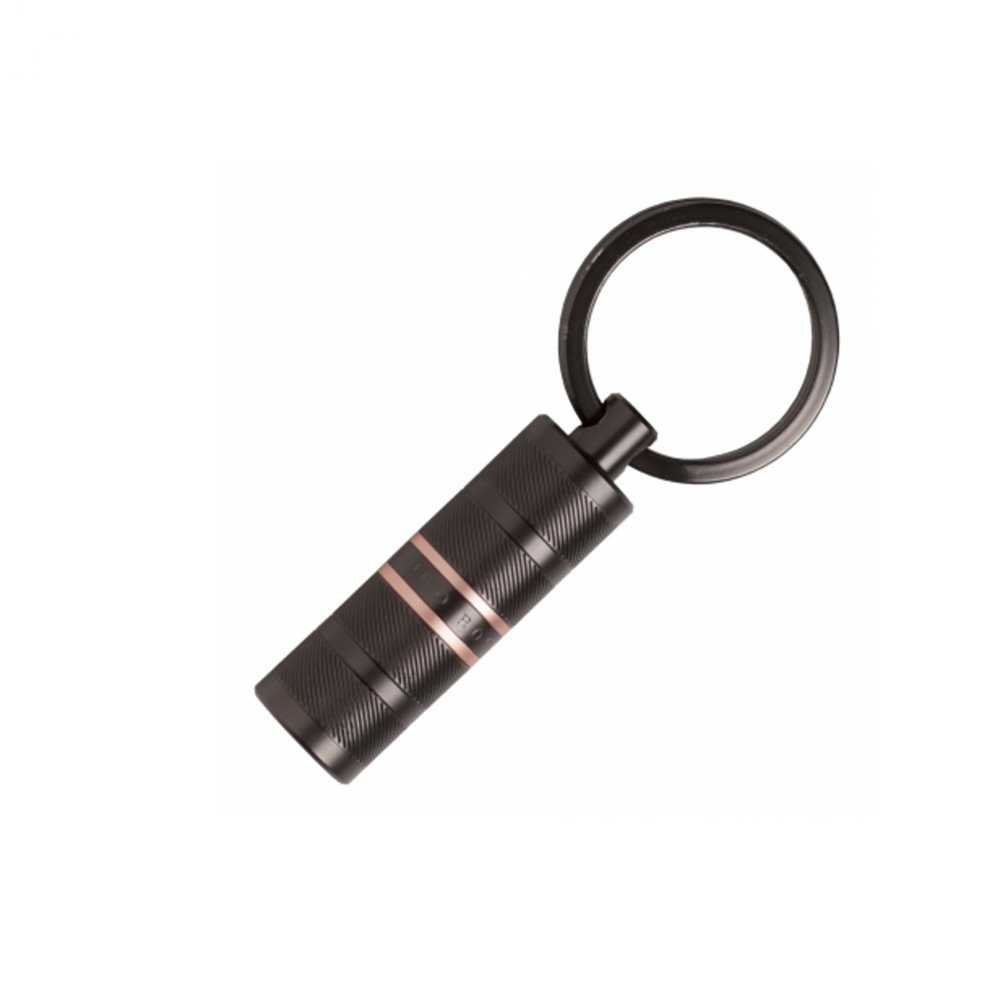 HUGO BOSS Level Structure Gun portachiavi a cilindro, black